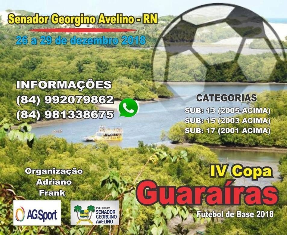 Georgino Avelino promove IV Copa Guaraíras de Futebol de Base