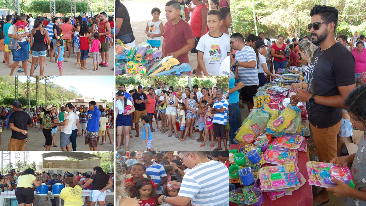 Famílias de Georgino Avelino são beneficiadas com cestas básicas e brinquedos da expedição Barra do Cunhaú