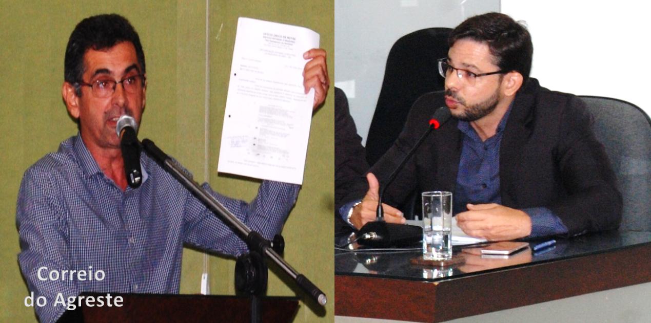 """Clima """"quente"""" marca sessão ordinária em Arez após discussão entre Tabelião Giovany e vereador Breno Lins"""
