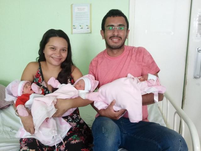 Grávida de gêmeas no Nordeste descobre 3ª bebê no parto e diz que quase morreu de susto