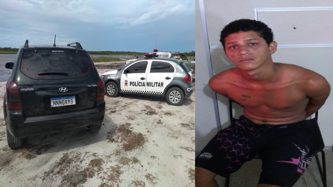Policiais Militares de Georgino Avelino e Arez capturam terceiro elemento de assalto a veículo de Natal