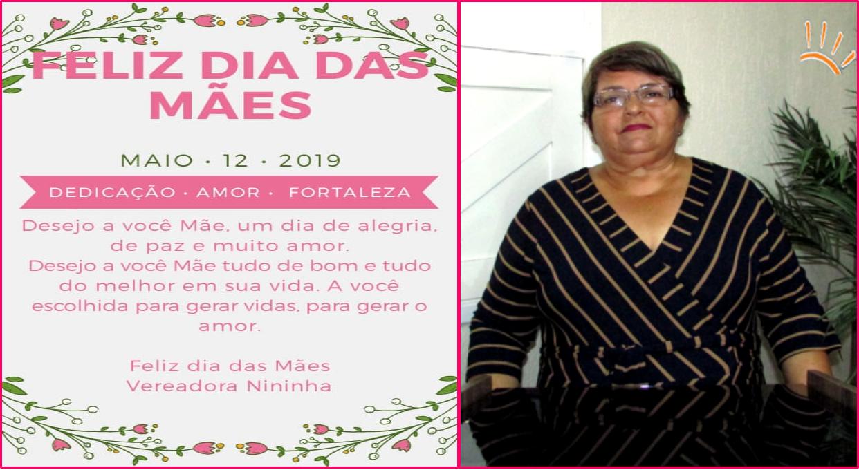 Mensagem da vereadora Nininha a todas as Mães Georginenses e Carnaubenses