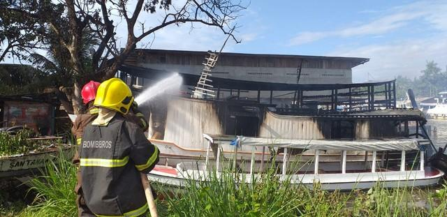 Em estado grave, feridos em explosão de barco no AP têm metade dos corpos queimados