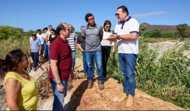 Presidente da Assembleia Legislativa do RN visita obras Currais Novos