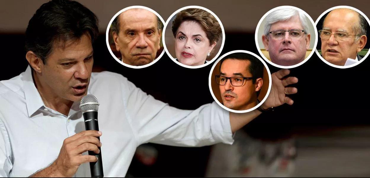Haddad resume o dia: tucanos confessam golpe, Janot quase matou Gilmar e Lava Jato cometeu mais crimes