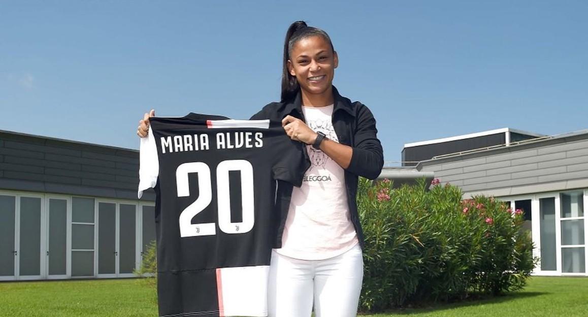 Maria Alves assina contrato com a Juventus e espera estrear contra o Barcelona na Champions