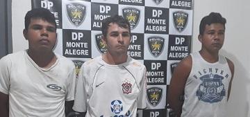 Polícias Civil e Militar prendem homens suspeitos de integrarem grupo criminoso na região de Monte Alegre e Vera Cruz