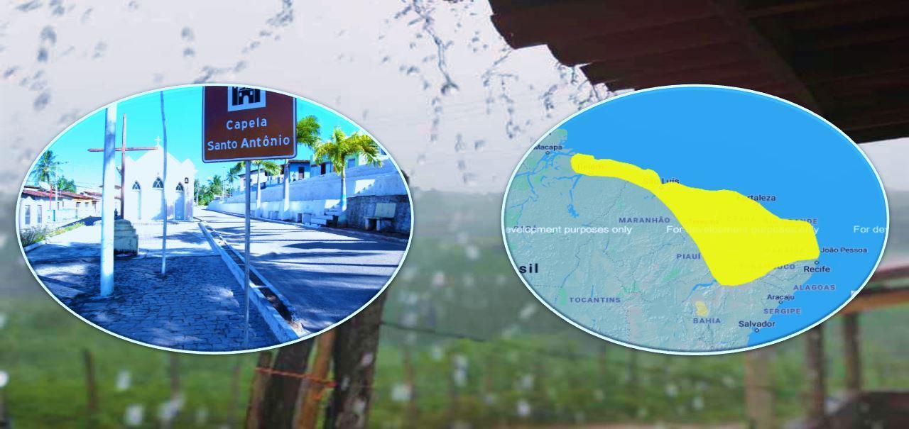 Inmet emite alerta de risco de chuvas intensas para Georgino Avelino e outros 120 municípios do RN