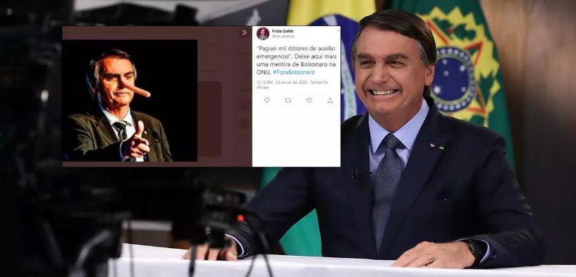 Bolsonaro é ridicularizado nas redes com mentira sobre