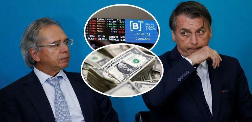 Fracasso de Guedes e Bolsonaro produz a maior fuga de dólares da história do Brasil