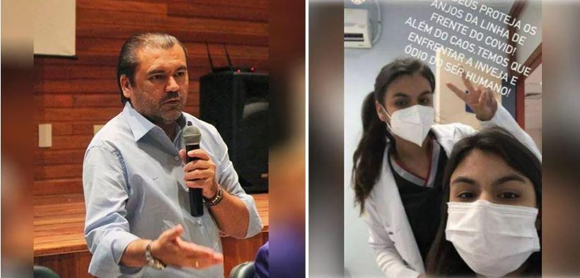 PF foi recebida a tiros por filho de empresário pai das gêmeas acusadas de furar fila da vacina em Manaus